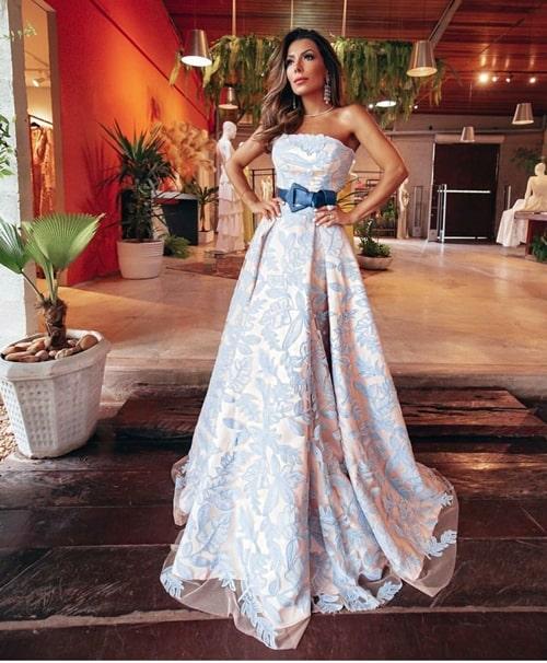 vestido de festa estilo princesa para madrinha