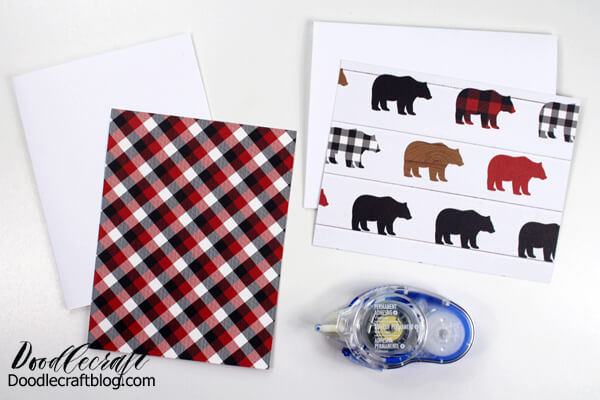 make matching cards and envelopes with double sided paper.