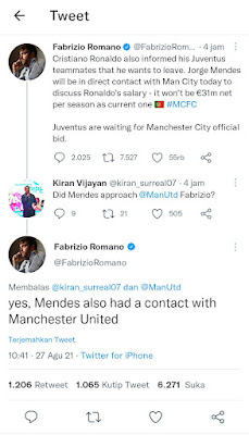 Ronaldo Ke Manchester City atau Manchester United