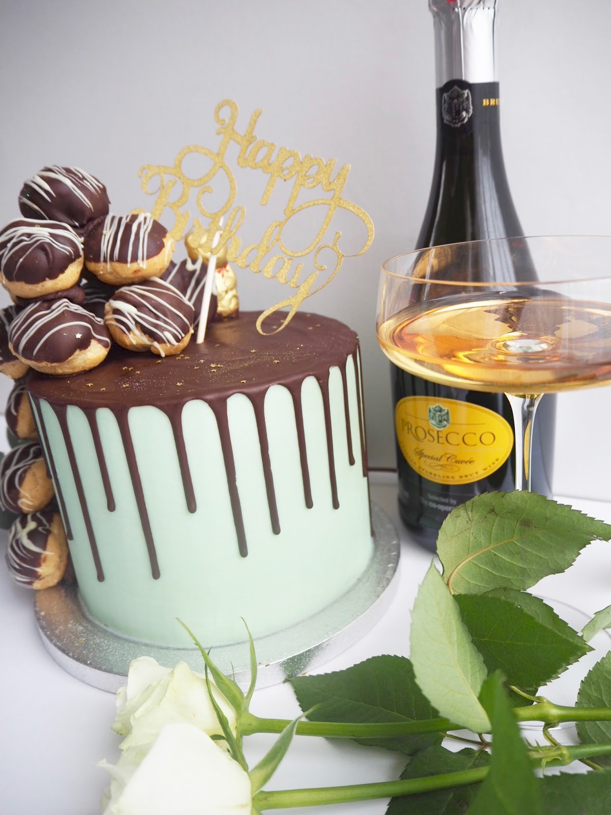 Profiterole Cake and Prosecco