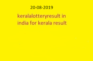 nirmal lottery sthree sakthi lottery result 2019-08-20