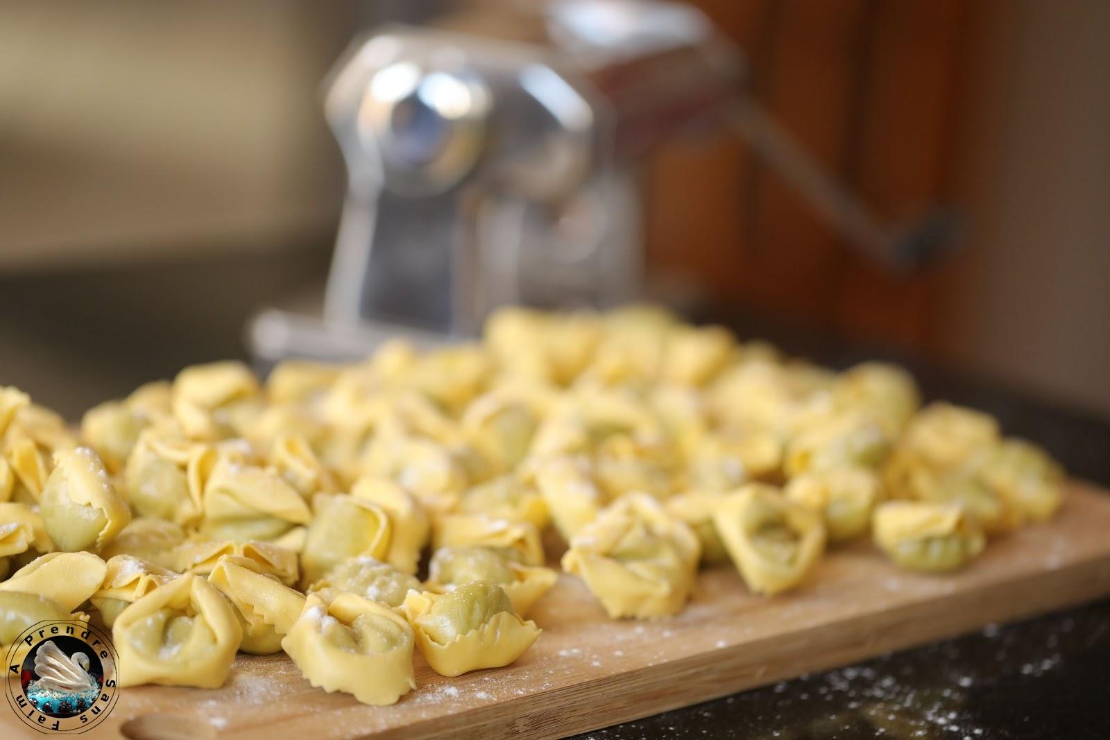 Tortellinis fourrés au pesto fait maison