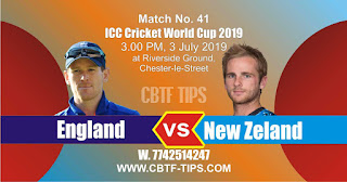 Who will win ICC CWC 41st Match England vs New Zeland