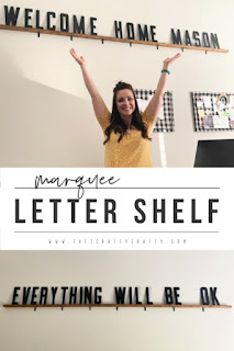 How to make a Marquee Letter Shelf | She's Crafty