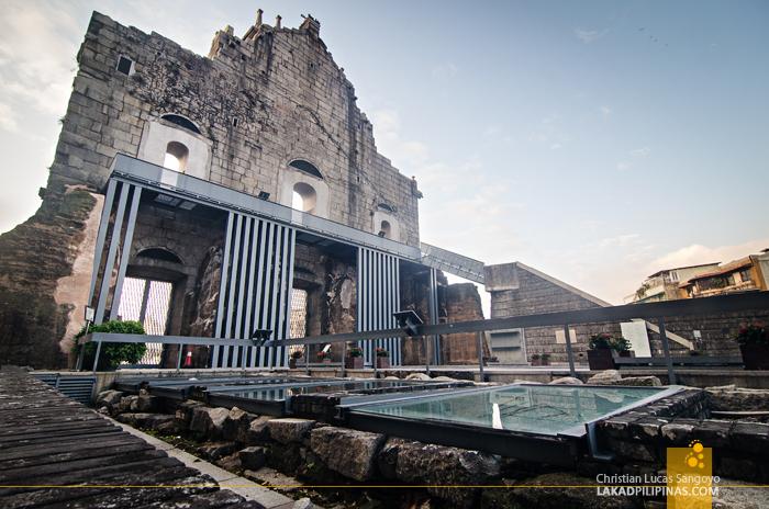 Unesco Ruins of St. Paul's Back Macau China