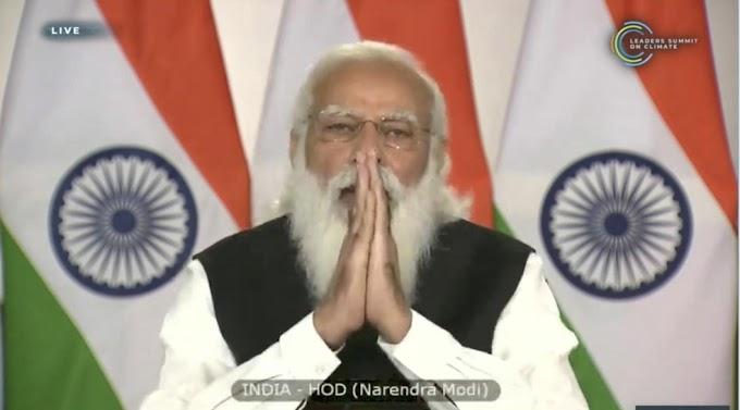 Discurso do Primeiro-Ministro Narendra Modi na Cúpula dos Líderes sobre o Clima 2021