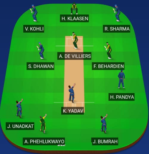 India vs South Africa Dream 11 Predictions