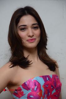 Actress Tamanna Latest Images in Floral Short Dress at Okkadochadu Movie Promotions  0114.JPG