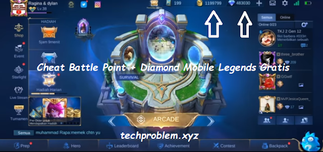 Cheat Battle Point dan Diamond Mobile Legends Gratis