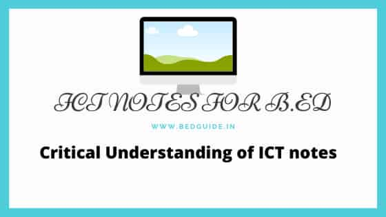 ICT Notes For B.ed and M.ed PDF Download