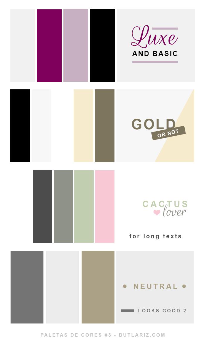 Paletas de cores sérias e neutras