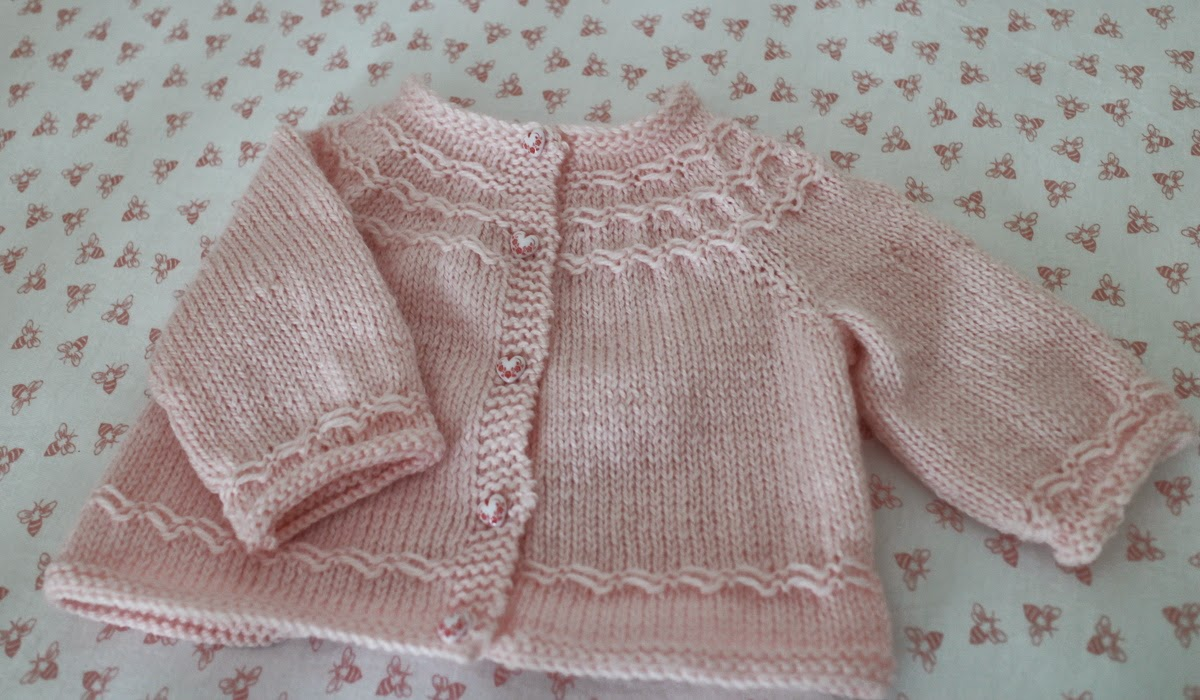 Lilacs And Springtime Seamless Yoked Baby Sweater