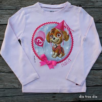 Camiseta Patrulla Canina personalizada