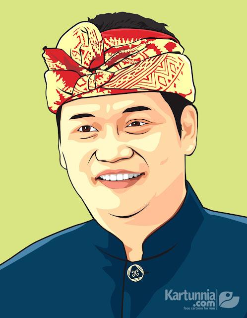 Karikatur Vector Bali