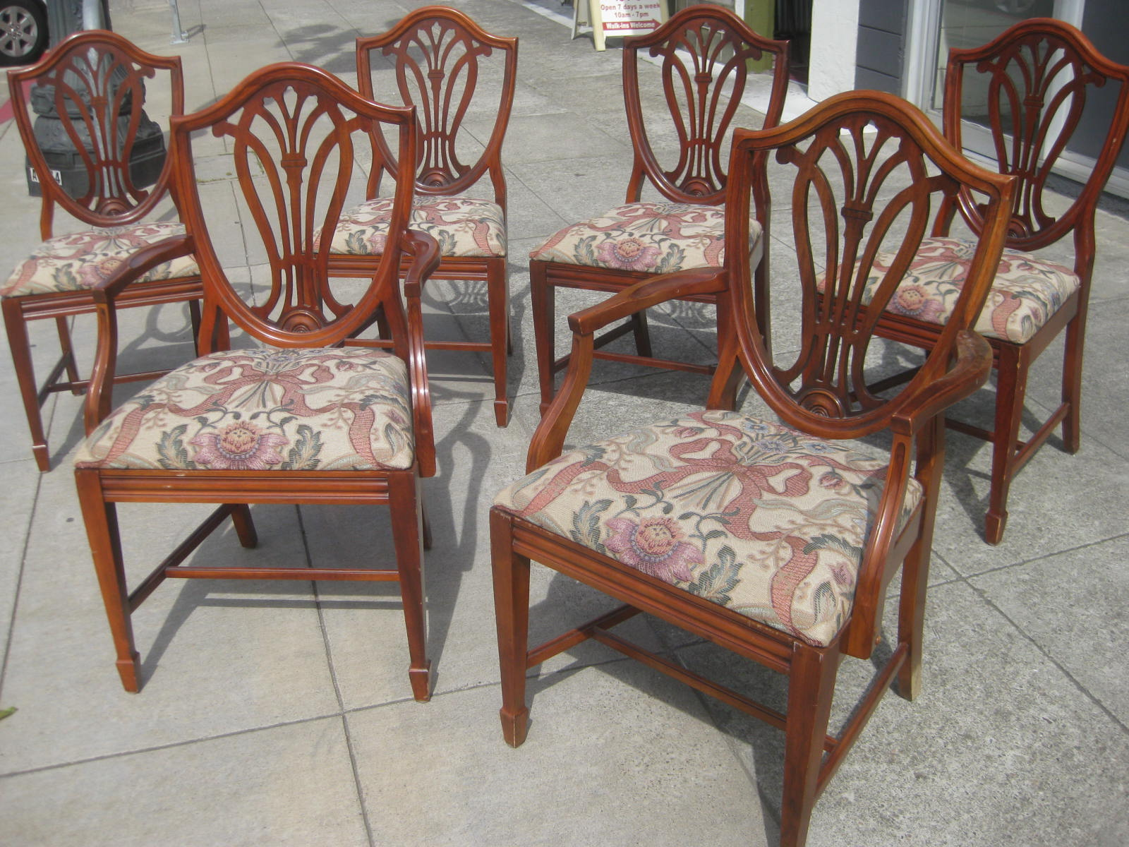 duncan phyfe chairs seating office uhuru furniture and collectibles sold set of six