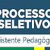 Aberto Processo Seletivo para Pedagogo. Salário de R$2.500,00.