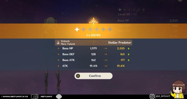 upgrade level hero 40