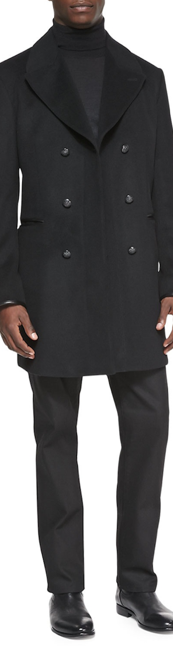 John Varvatos Double breasted topcoat