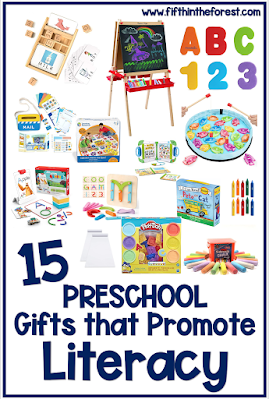 Pin Image for 15 Literacy Centered Gifts for Preschoolers