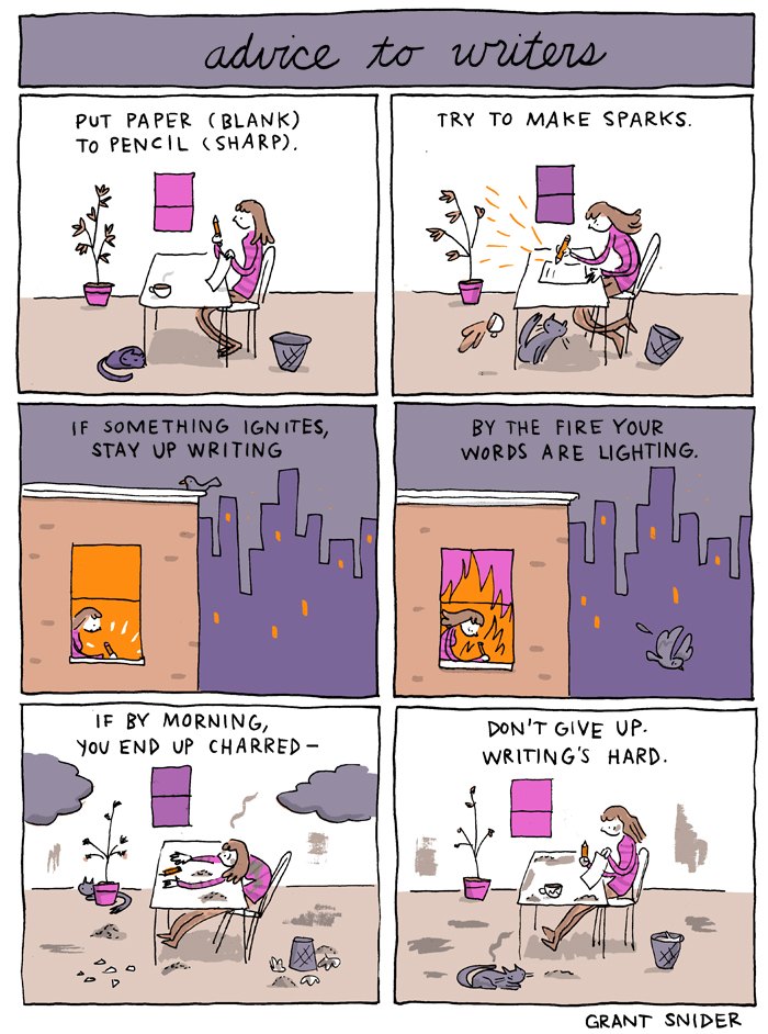 Advice to Writers from Grant Snider