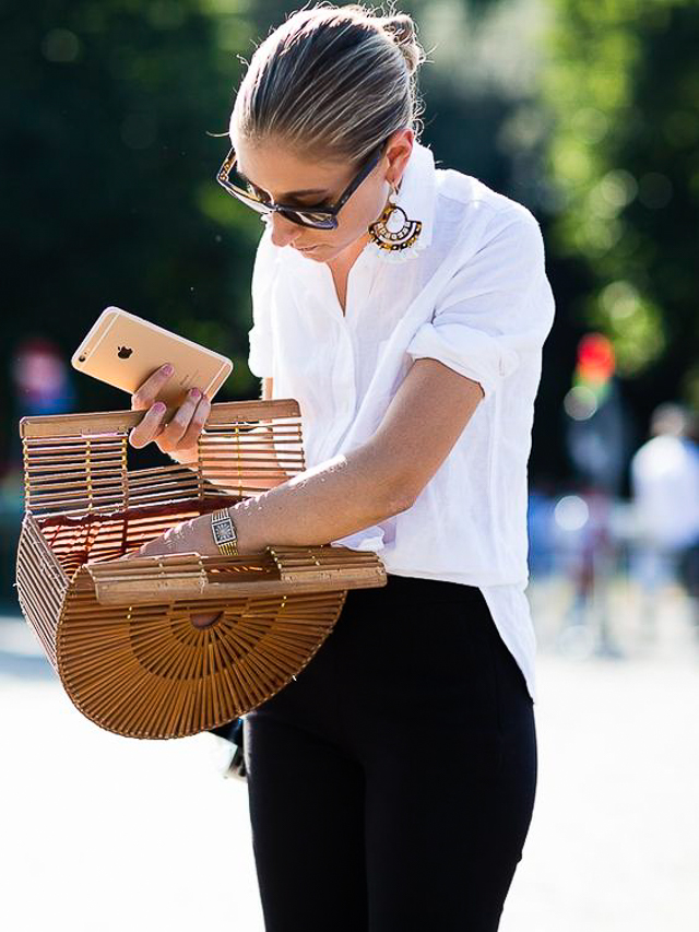 bolso rafia mimbre capazo paja bag basket