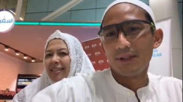 Tidak Bertemu Jokowi di Mekkah, Sandi: Saya Fokus Ibadah Bersama Istri