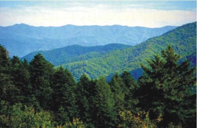 Montes Apalaches nos Estados Unidos da América