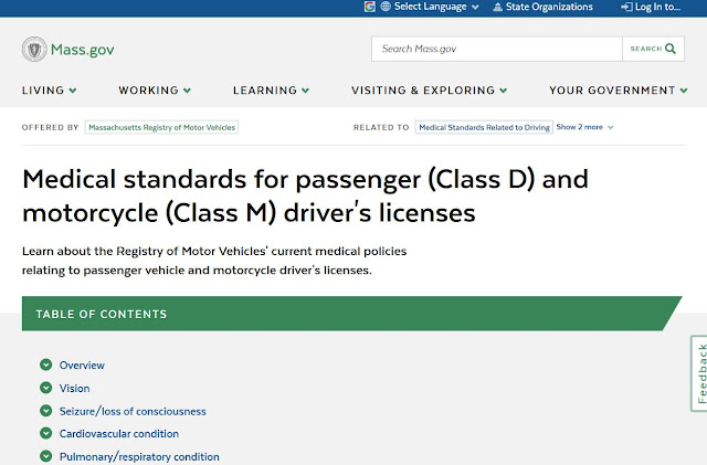 https://www.mass.gov/info-details/medical-standards-for-passenger-class-d-and-motorcycle-class-m-drivers-licenses