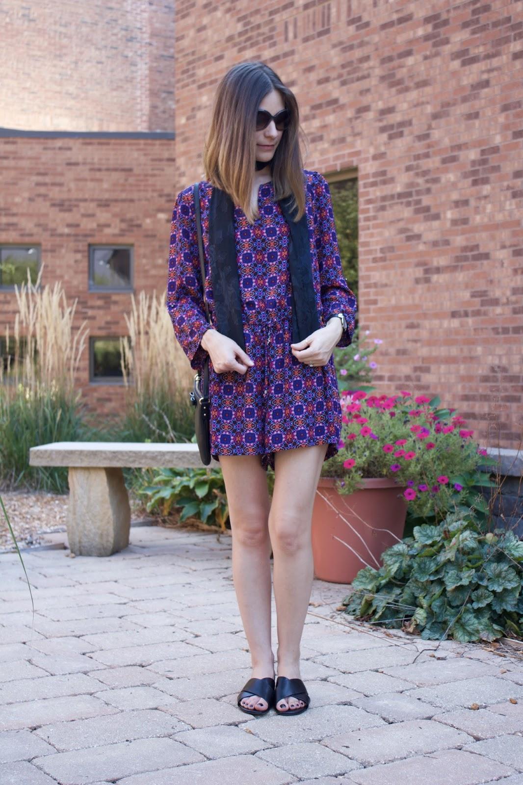Purple Womens Romper