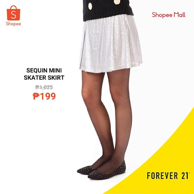 Sequin Mini Skirt on Shopee