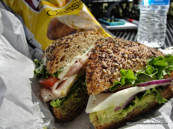 sandwich from Blue Cow Deli in Penn Valley, California