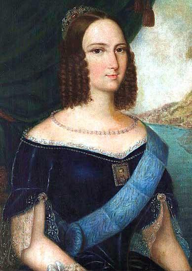 Quadro falso da imperatriz Tereza Cristina