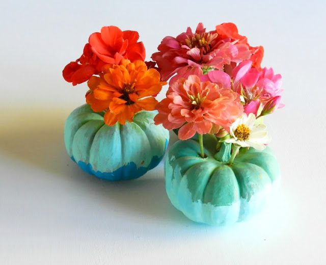Mini Pumpkin Floral Craft