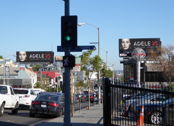 Adele 25 album billboards Sunset Strip