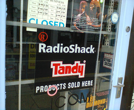 RadioShack sign from a shop in Whitstable, Kent