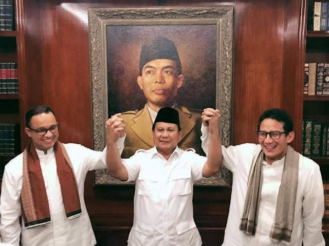 Sindiran Prabowo Subianto Kepada Ahok Saat Deklarasi Pasangan Anies-Sandiaga