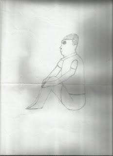 Patung Orang Duduk