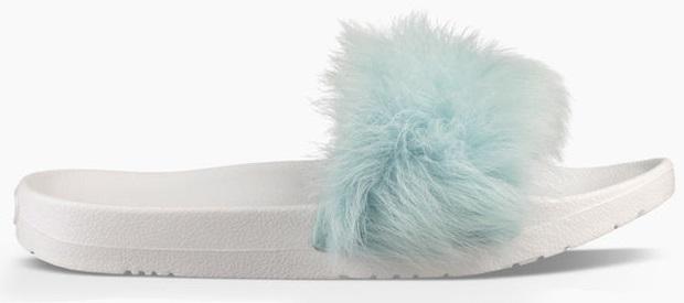 Baby Blue fur sandal