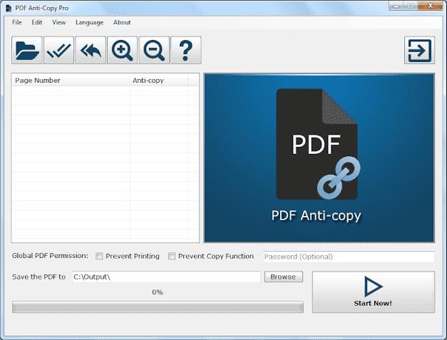 Screenshot PDF Anti-Copy Pro 2.5.0.4 Full Version