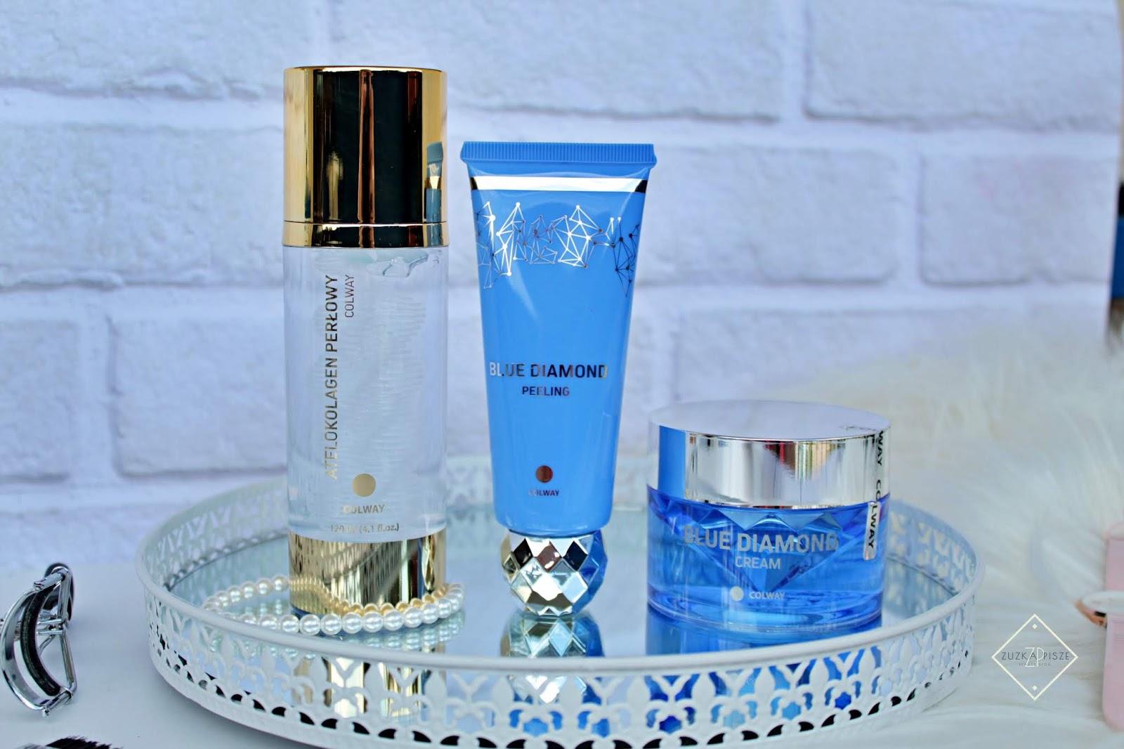Atelokolagen perłowy + zestaw Blue Diamond marki COLWAY