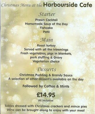 Photo of the Aquarium Christmas menu