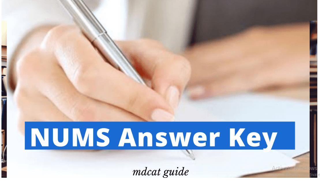 nums answer key 2020