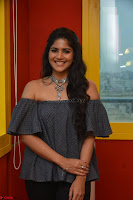Mega Akash in a sleeveless Off Shoulder Cute Dress Stunnign beauty at Radio Mirchi Promoting Movie LIE ~ Celebrities Galleries 050.JPG