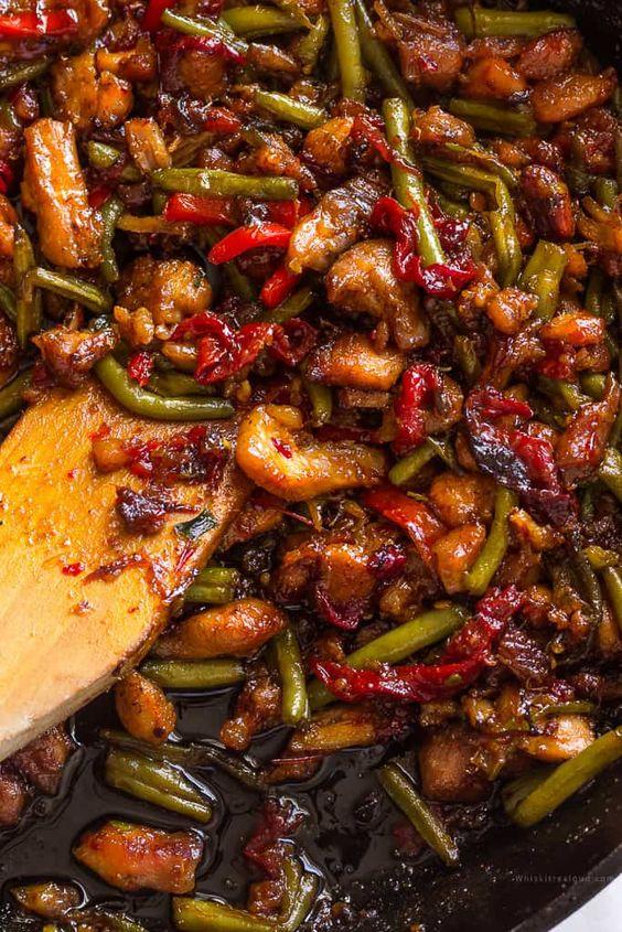Thai Chicken Stir fry with Green Beans