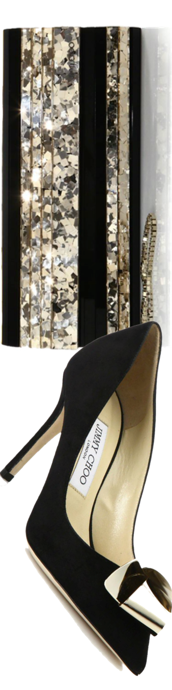 Jimmy Choo Vesna Suede Bow Accent Pumps Black