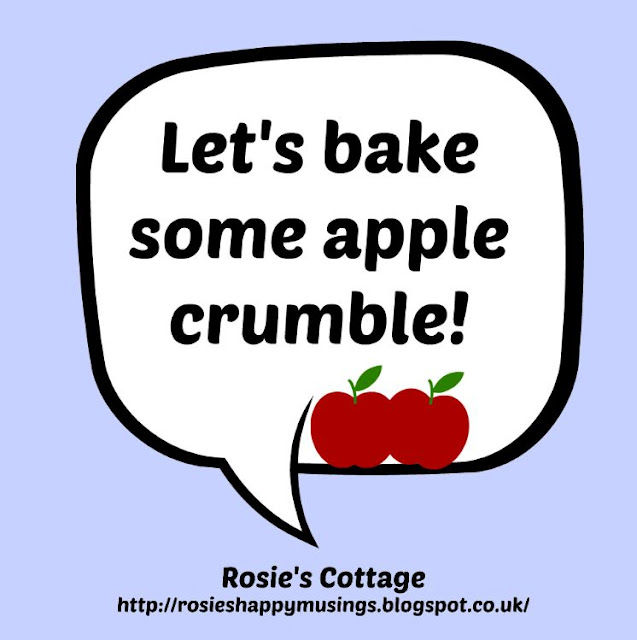 Lets bake some apple crumble