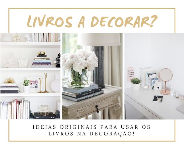Como usar os livros na decoração?