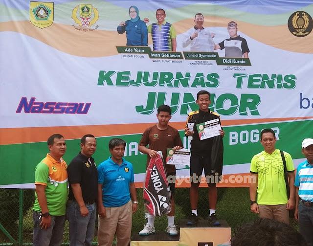 Kejurnas Tenis Yunior Piala Bupati Bogor: Libas Unggulan 1 dan 2, M. Sulthan Shadiq Sabet Gelar Juara