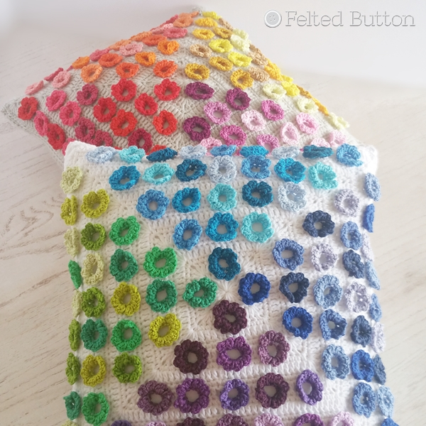 Afremov Pillow Crochet Pattern by Susan Carlson of Felted Button
