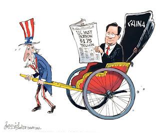 Resultado de imagen para caricatura de trump contra china